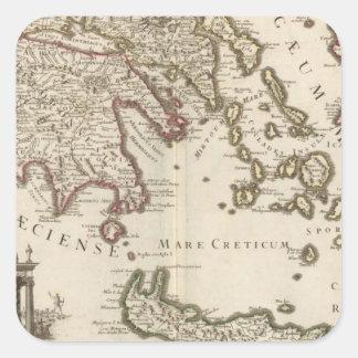Balkan Peninsula, Greece, Turkey Square Sticker