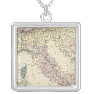 Balkan Peninsula, Italy, Slovenia 2 Silver Plated Necklace