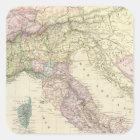 Balkan Peninsula, Italy, Slovenia 2 Square Sticker