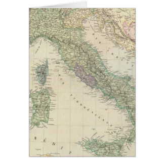 Balkan Peninsula, Italy, Slovenia Card