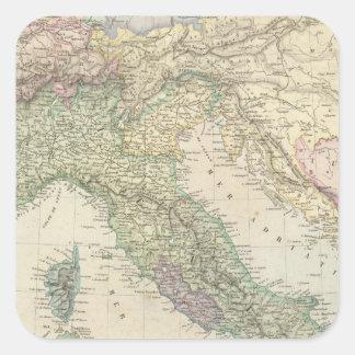 Balkan Peninsula, Italy, Slovenia Square Sticker