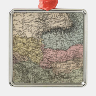 Balkan Peninsula Silver-Colored Square Decoration