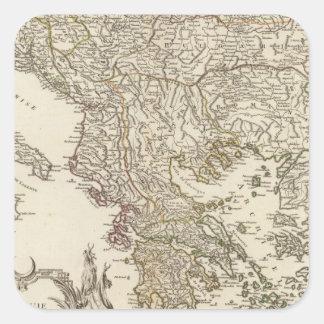 Balkan Peninsula Square Sticker