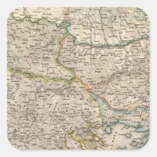 Balkan Peninsula, Turkey 2 Square Sticker