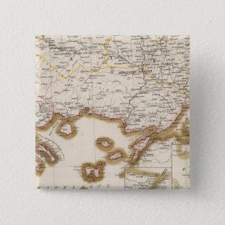 Balkan Peninsula, Turkey, Bulgaria 15 Cm Square Badge