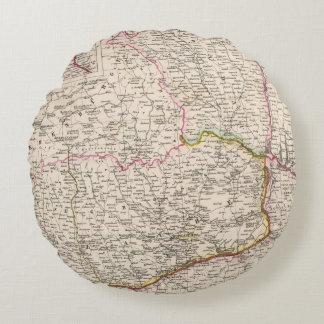 Balkan Peninsula, Turkey, Romania Round Cushion