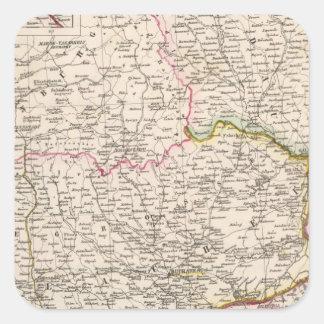 Balkan Peninsula, Turkey, Romania Square Sticker
