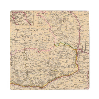 Balkan Peninsula, Turkey, Romania Wood Coaster