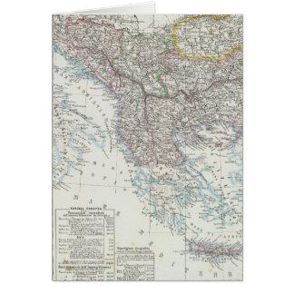 Balkan Peninsula, Turkey, Serbia, Europe Card