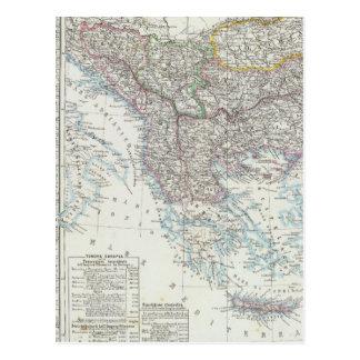 Balkan Peninsula, Turkey, Serbia, Europe Postcard