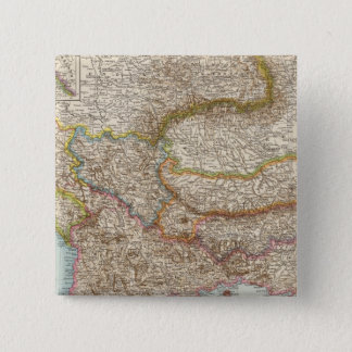 Balkanhalbinsel - Balkan Peninsula Map 15 Cm Square Badge