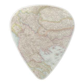 Balkanhalbinsel - Balkan Peninsula Map Acetal Guitar Pick