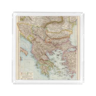 Balkanhalbinsel - Balkan Peninsula Map Acrylic Tray