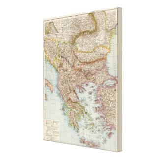 Balkanhalbinsel - Balkan Peninsula Map Canvas Print
