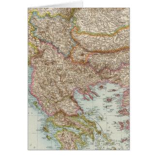 Balkanhalbinsel - Balkan Peninsula Map Card