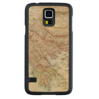 Balkanhalbinsel - Balkan Peninsula Map Carved Maple Galaxy S5 Case