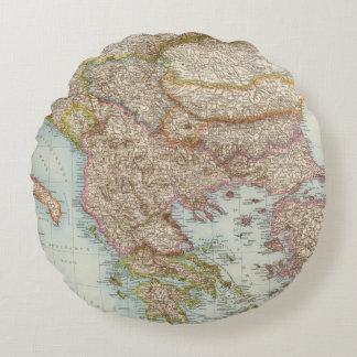 Balkanhalbinsel - Balkan Peninsula Map Round Cushion