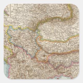 Balkanhalbinsel - Balkan Peninsula Map Square Sticker