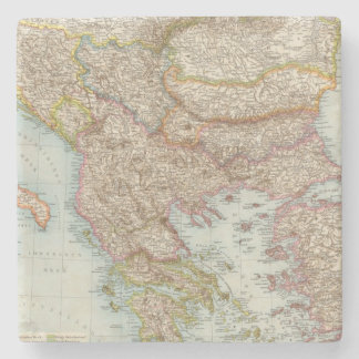 Balkanhalbinsel - Balkan Peninsula Map Stone Coaster