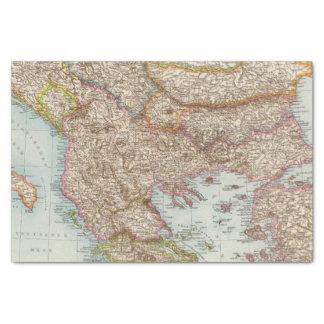 Balkanhalbinsel - Balkan Peninsula Map Tissue Paper