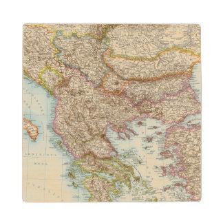 Balkanhalbinsel - Balkan Peninsula Map Wood Coaster