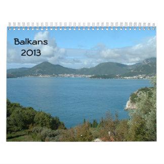 Balkans 2013 wall calendar