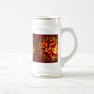 ball-373718 HOT RED FIRE PLANET  ball fire electri Beer Steins