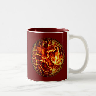 ball-373718 HOT RED FIRE PLANET  ball fire electri Two-Tone Mug