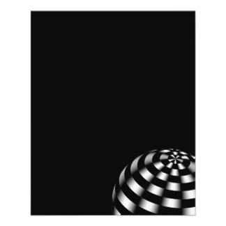 ball-440140 BLACK HITE STRIPES OPTICAL ILLUSIONS b 11.5 Cm X 14 Cm Flyer