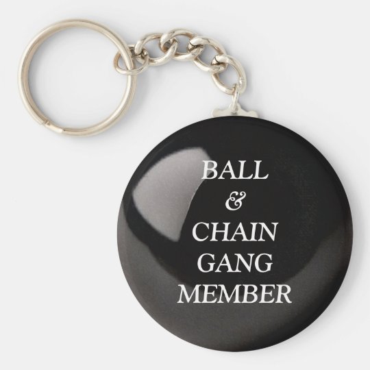 Ball and Chain Basic Round Button Key Ring