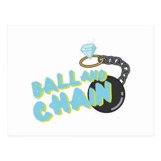 Ball And Chain Postcard