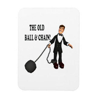 Ball And Chain Vinyl Magnet