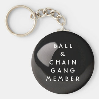 BALL AND CHAIN VALENTINE GIFT BASIC ROUND BUTTON KEY RING
