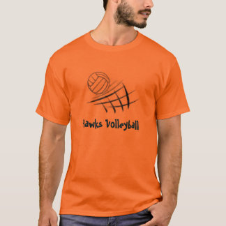 Ball and Net, Hawks Volleyball T-Shirt