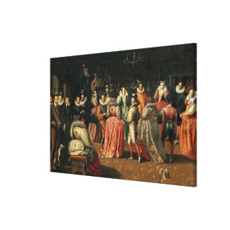 Ball at the Court of King Henri III of France Canvas Print