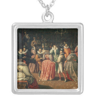 Ball at the Court of King Henri III of France Silver Plated Necklace