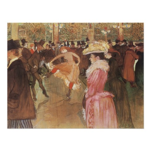 Ball at the Nightclub by Toulouse Lautrec Poster
