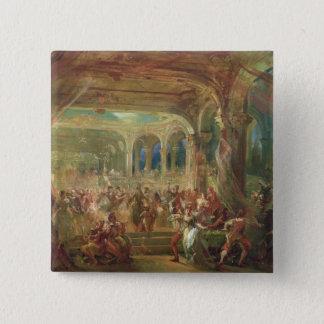 Ball at the Opera de Paris 15 Cm Square Badge