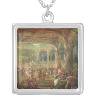 Ball at the Opera de Paris Silver Plated Necklace