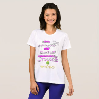 Ball bounces twice Tennis Competitor T-Shirt