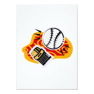 ball brush 13 cm x 18 cm invitation card