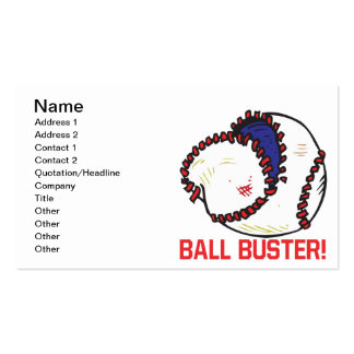 Ball Buster Pack Of Standard Business Cards