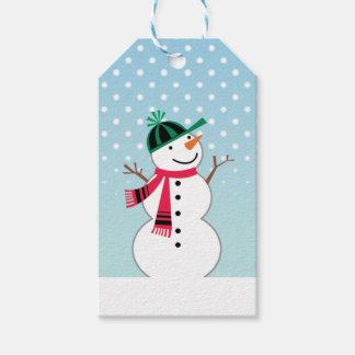 Ball Cap Snowman Gift Tag