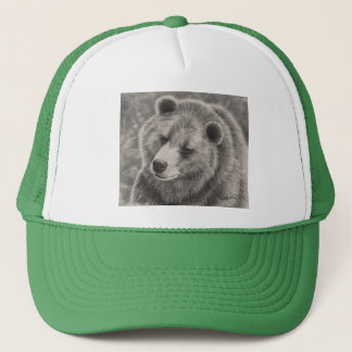 Ball Cap with Bear Design