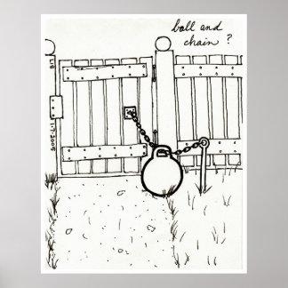 Ball & Chain print