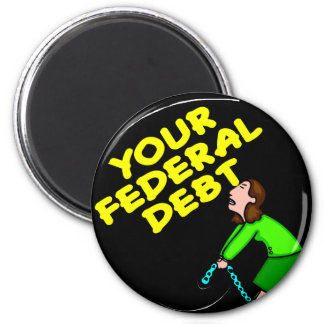 Ball Chain To Your Federal Debt Refrigerator Magnets