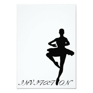 Ball Dance Classic Personalized Black White Card