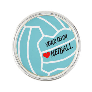 Ball Design Custom Netball Team Lapel Pin