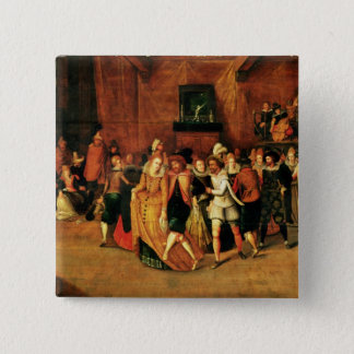 Ball during the Reign of Henri III, 1574-1623 15 Cm Square Badge