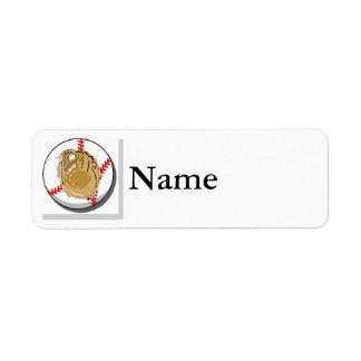 Ball & Glove Logo Return Address Label